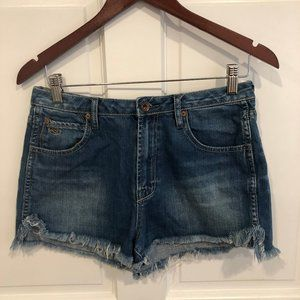 Quicksilver High-wasted Jean Shorts - Like New